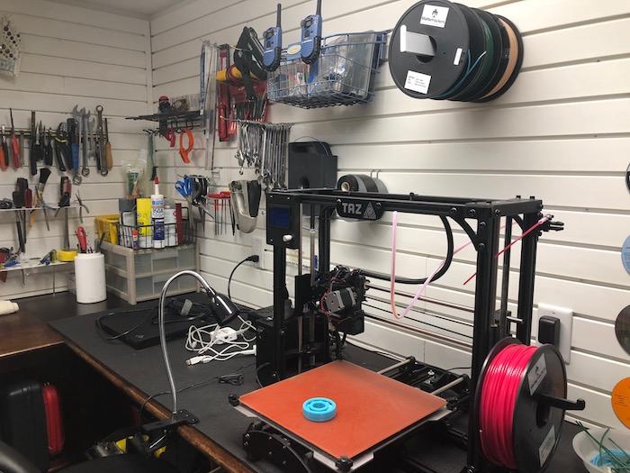 3-D Printer in shop
